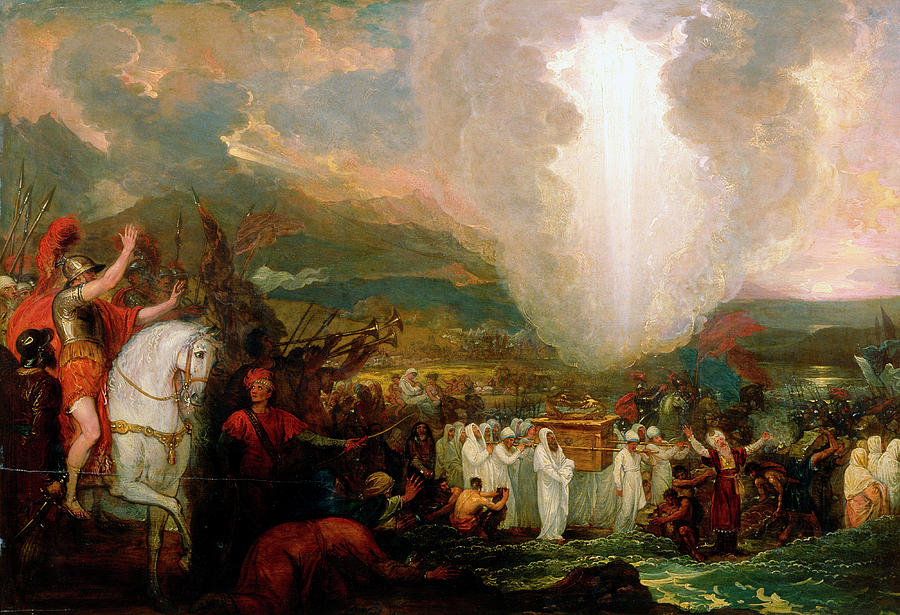 b024057bab69fb Joshua Painting - Joshua Passing The River Jordan With The Ark Of The  Covenant by Benjamin