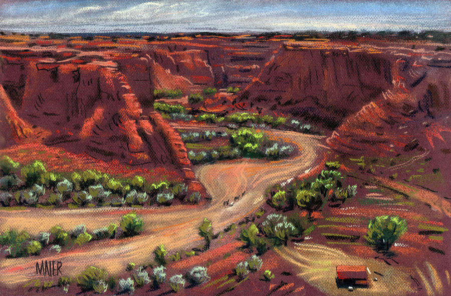Canyon De Chelly Drawing - Junction Canyon De Chelly by Donald Maier