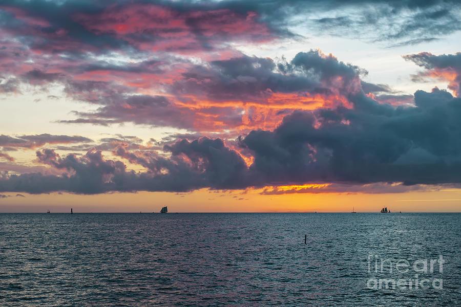 Sunset Photograph - Key West Sunset by Elena Elisseeva