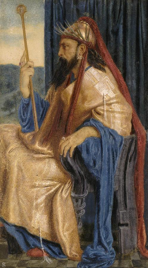 English Painters Painting - King Solomon by Simeon Solomon