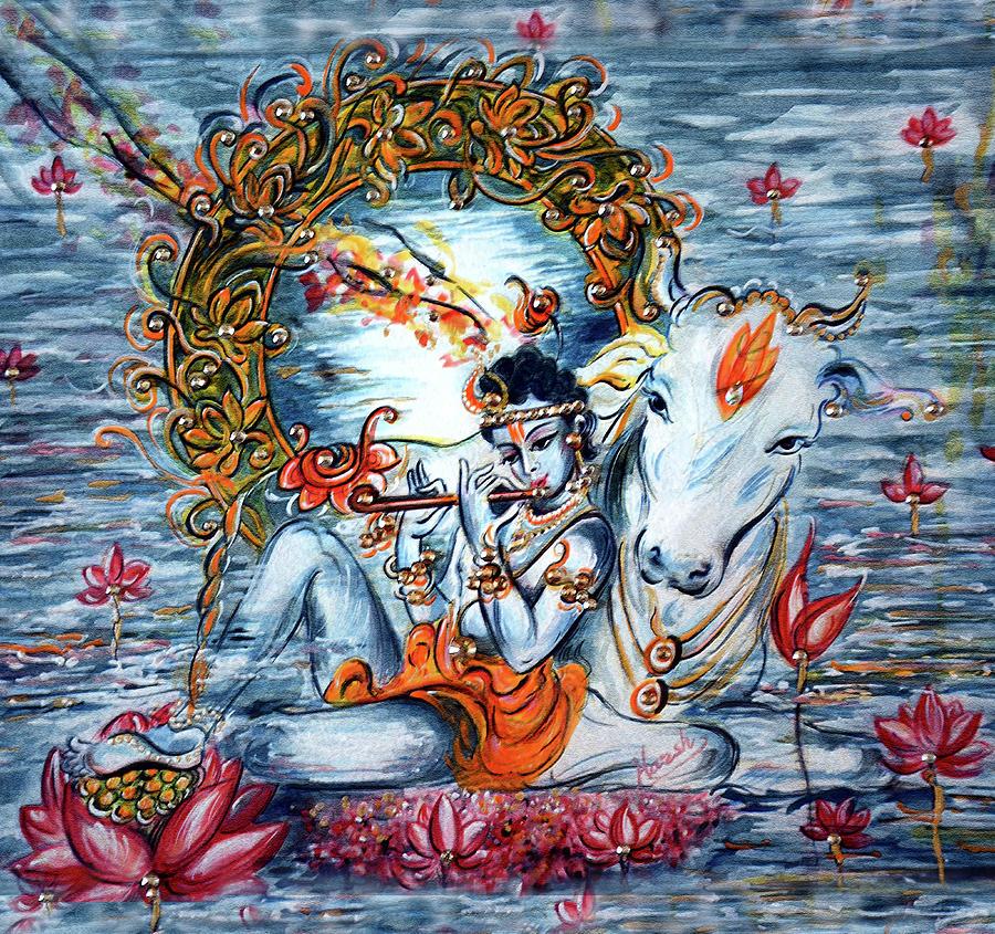 Krishna Painting - Krishna by Harsh Malik