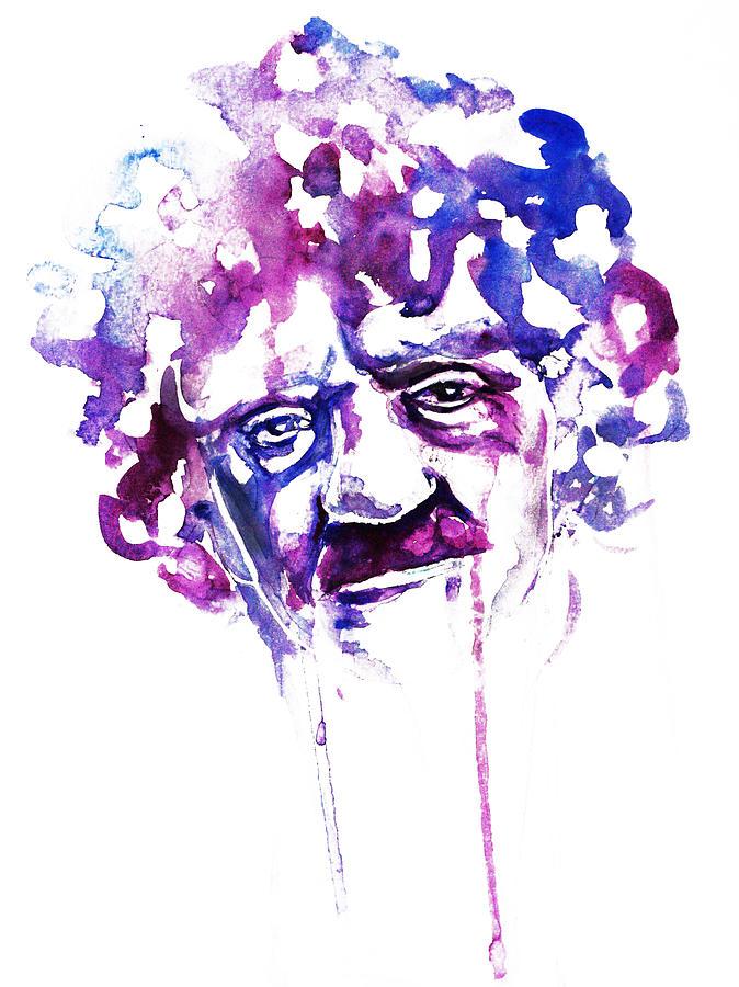 Kurt Vonnegut Painting - Kurt Vonnegut by Alexandra-Emily Kokova