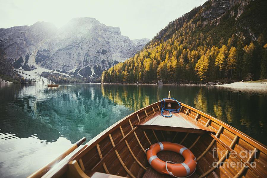 Adventure Photograph - Lago Di Braies by JR Photography