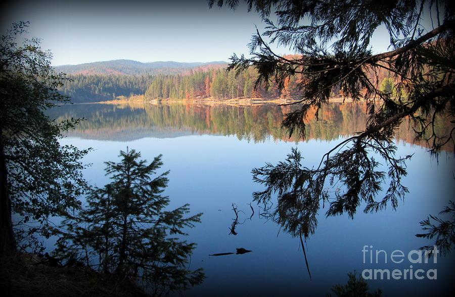 Lake Photograph - Lake Britton at Burney Falls State Park by Joy Patzner