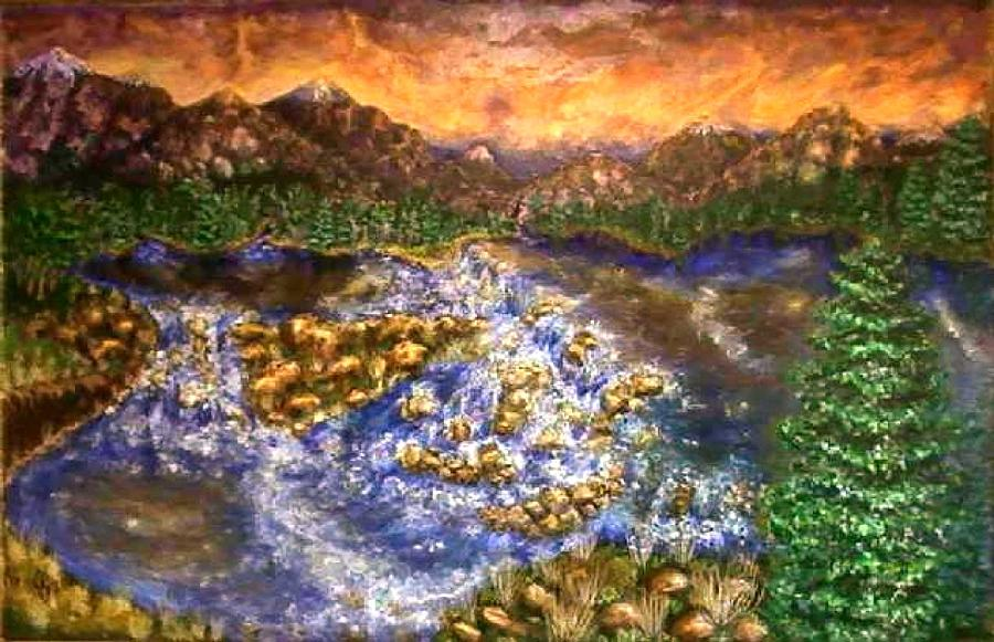 Lake Painting - Lake Succession by Tanna Lee M Wells