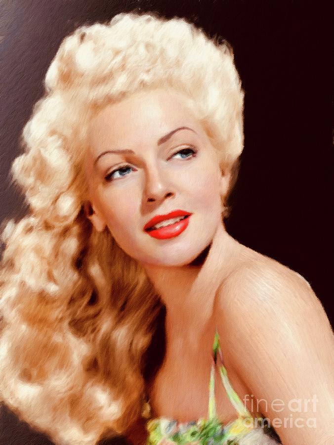 Lana Turner, Vintage Actress Painting