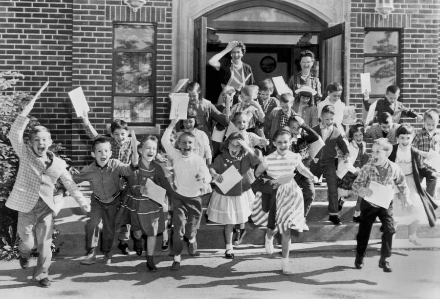 1960s Photograph - Last Day Of School by Underwood Archives