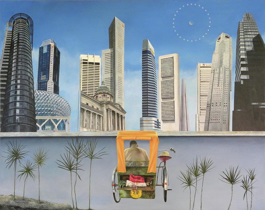 Singapore Painting - Last Dim Sum In Singapore by Tibone Buffalomeat