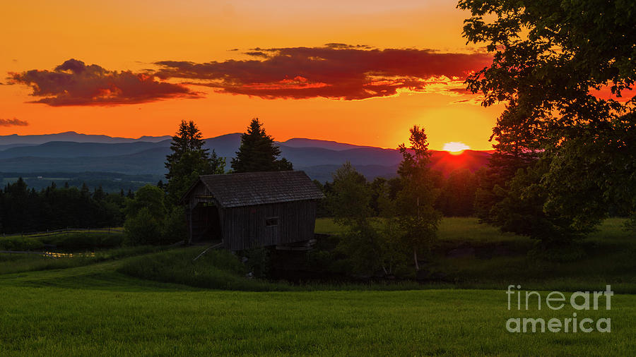 Late Spring Sunset by Scenic Vermont Photography