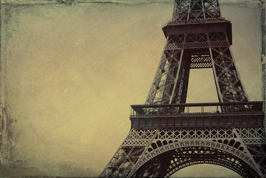 Paris Photograph - Le Jules Vernes Grunge by JAMART Photography