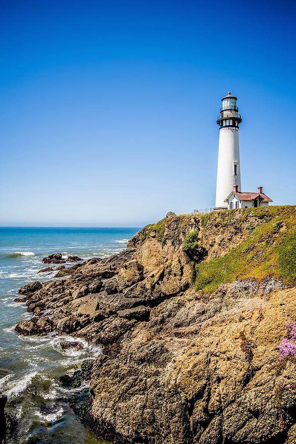 Lighthouse Standing On Big Sure California Coastline On Pacific Photograph
