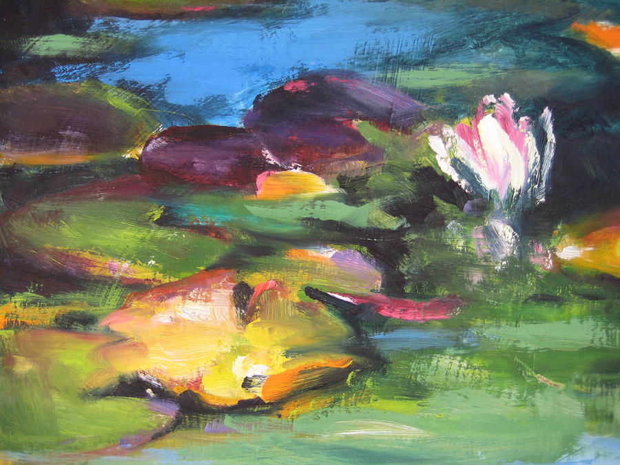 Pond Painting - Lily Pond by Susan Jenkins