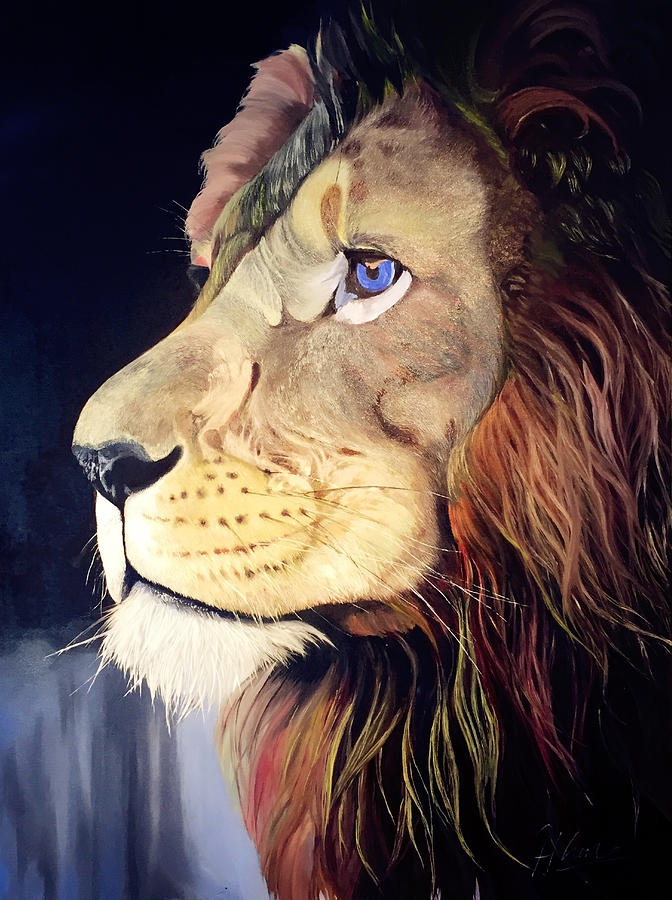 Lion Painting by Han Huang