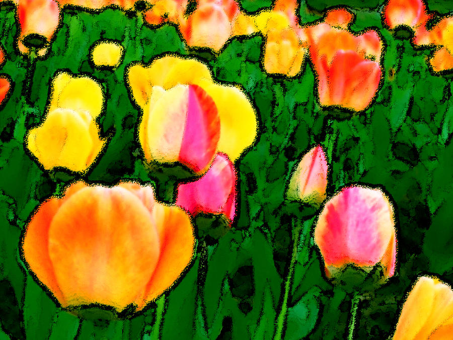 Flowers Painting - 2 Lips by Leonard Rosenfield