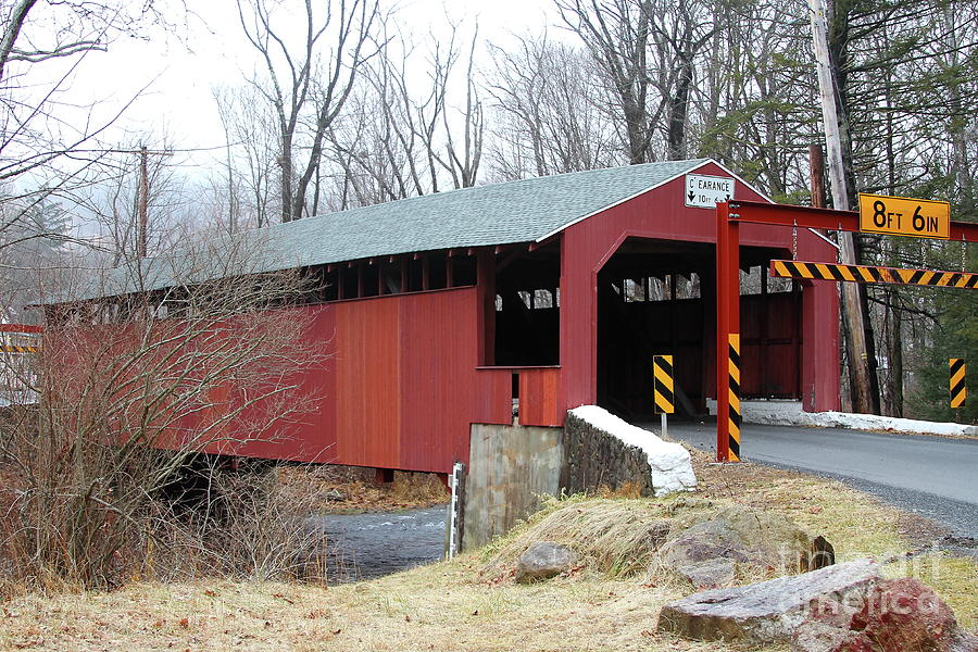 Bridge Photograph - Little Gap Covered Bridge by Ken Keener