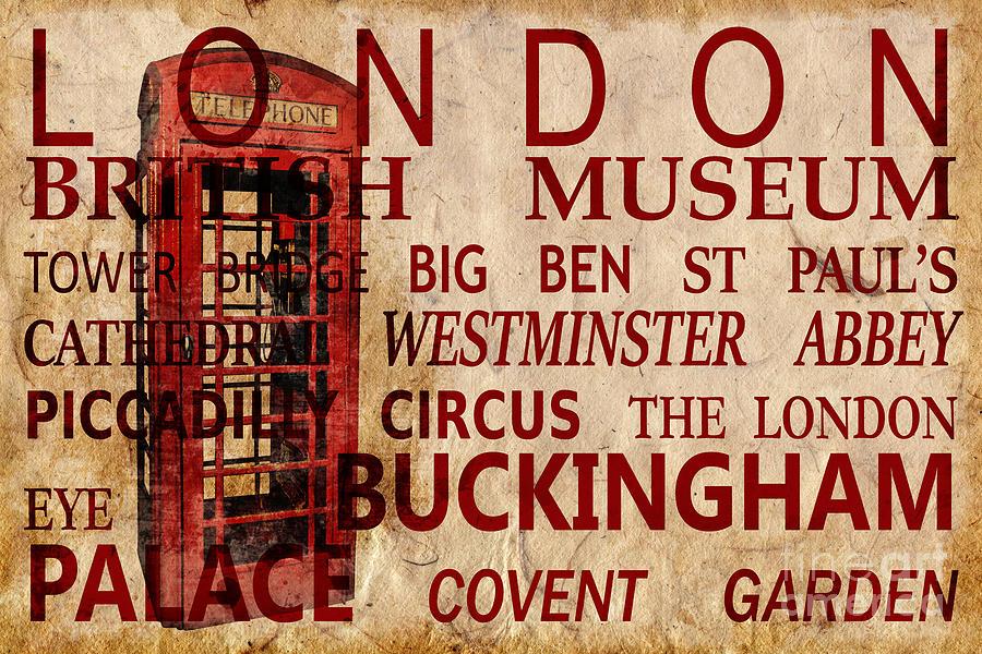 London Vintage Poster Red