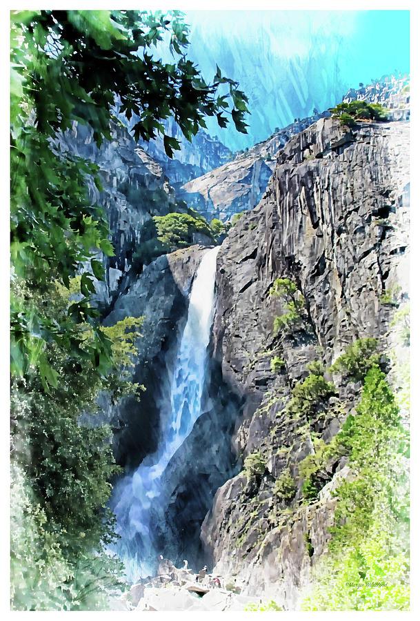 Yosemite Photograph - Lower Yosemite Falls by Margie Wildblood