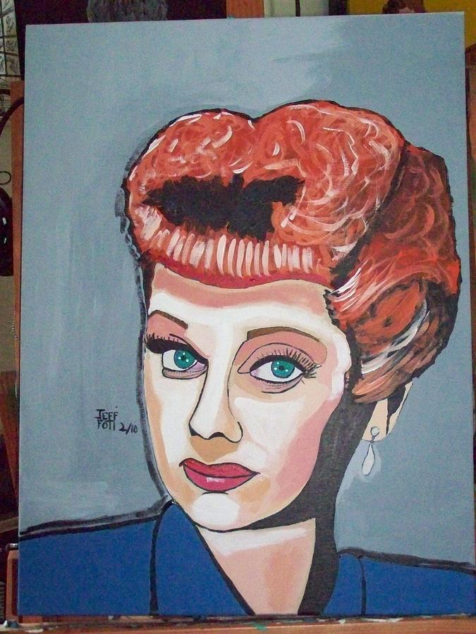 Lucy Painting by Jeffrey Foti