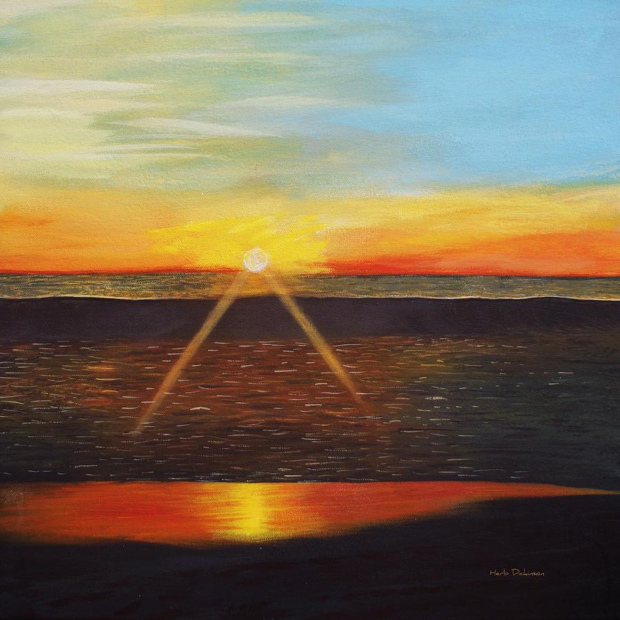 Malibu Sunset  by Herb Dickinson