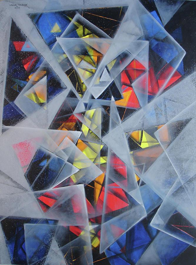 Abstract Painting Painting - Mandala 4 by Sagar Talekar