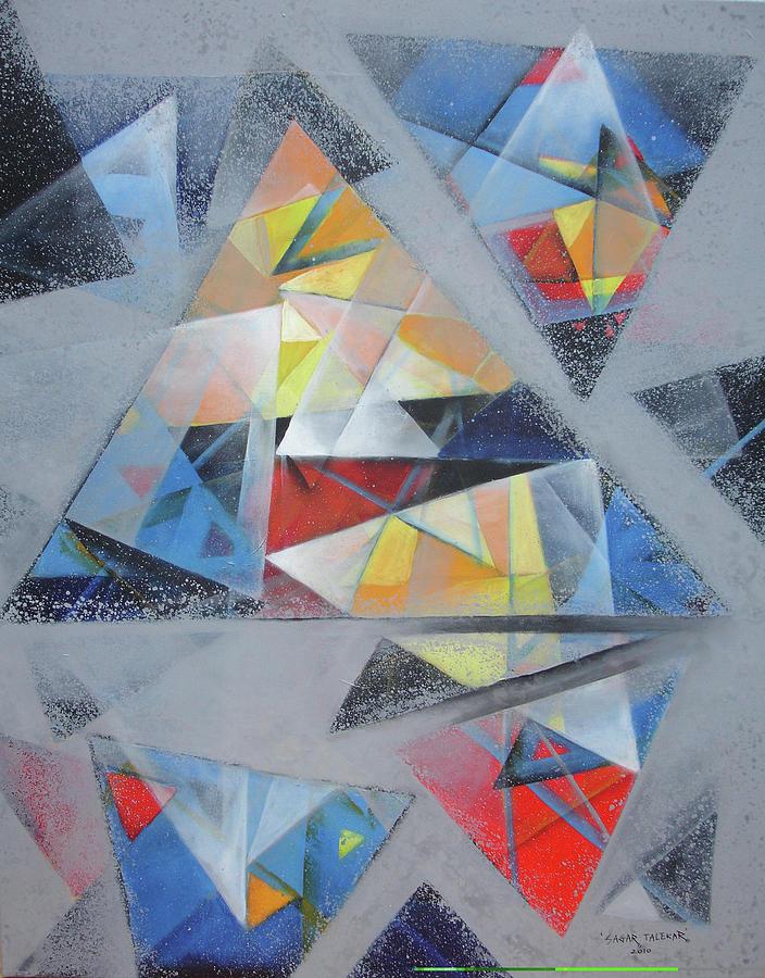 Abstract Painting - Mandala 7 by Sagar Talekar