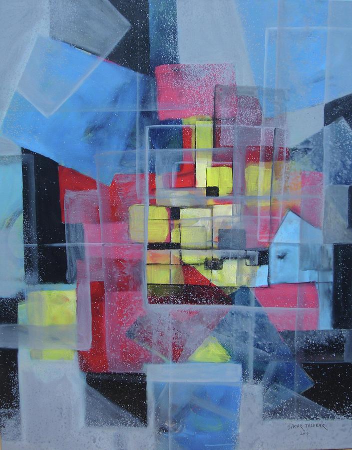 Abstract Painting - Mandala 8 by Sagar Talekar