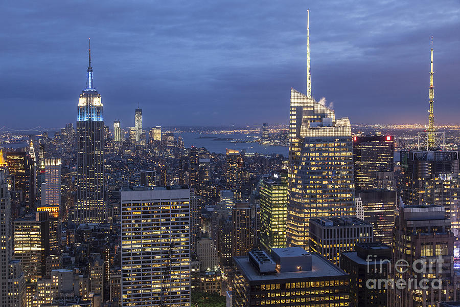 Amerikanisch Photograph - Manhattan Skyline New York by Juergen Held