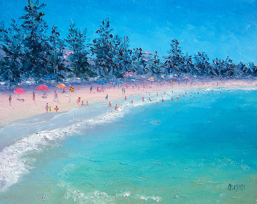 Beach Painting - Manly Beach  by Jan Matson
