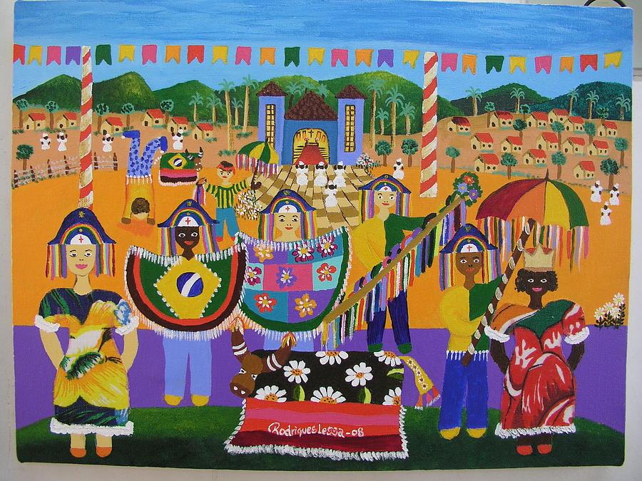 Maracatu Painting by Rodrigues Lessa