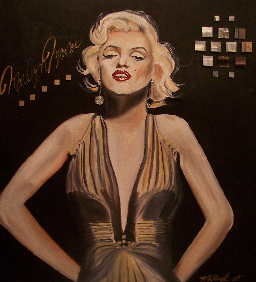 Home Decor Painting - Marilyn Monroe  by Mikayla Ziegler