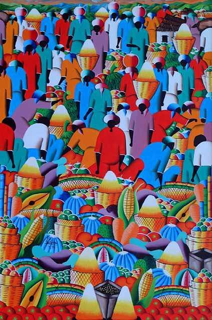 Market place Digital Art by Frantz Petion