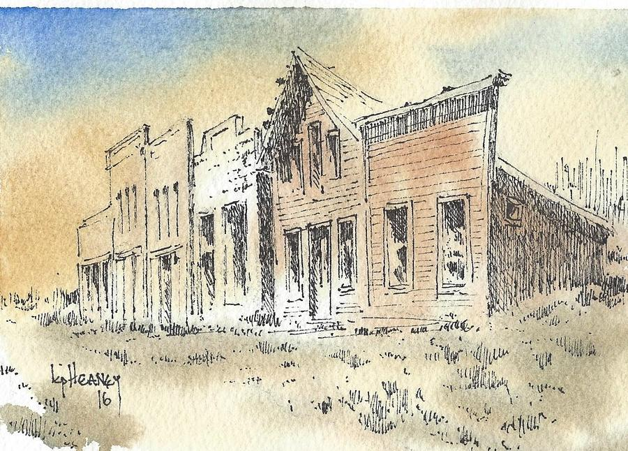 Ghost Town Mixed Media - Marysville Ghost Town Montana by Kevin Heaney