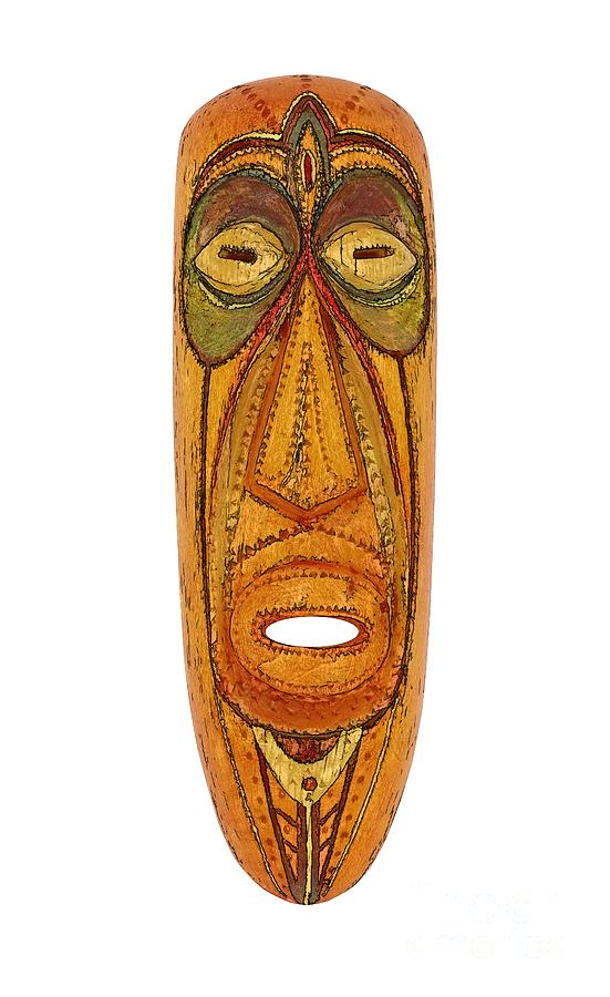 Africa Mixed Media - Mask by Michal Boubin