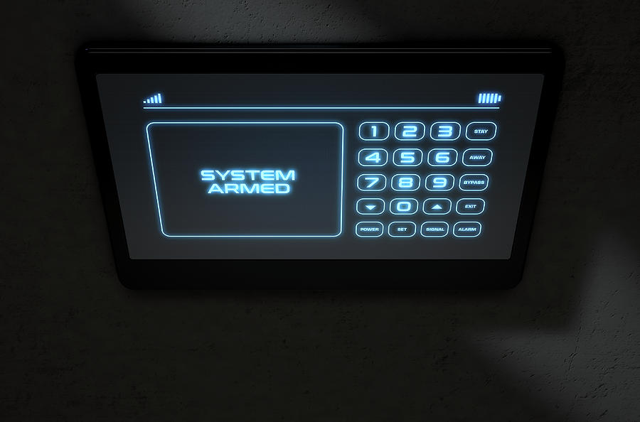 Armed Digital Art - Modern Interactive Home Security by Allan Swart