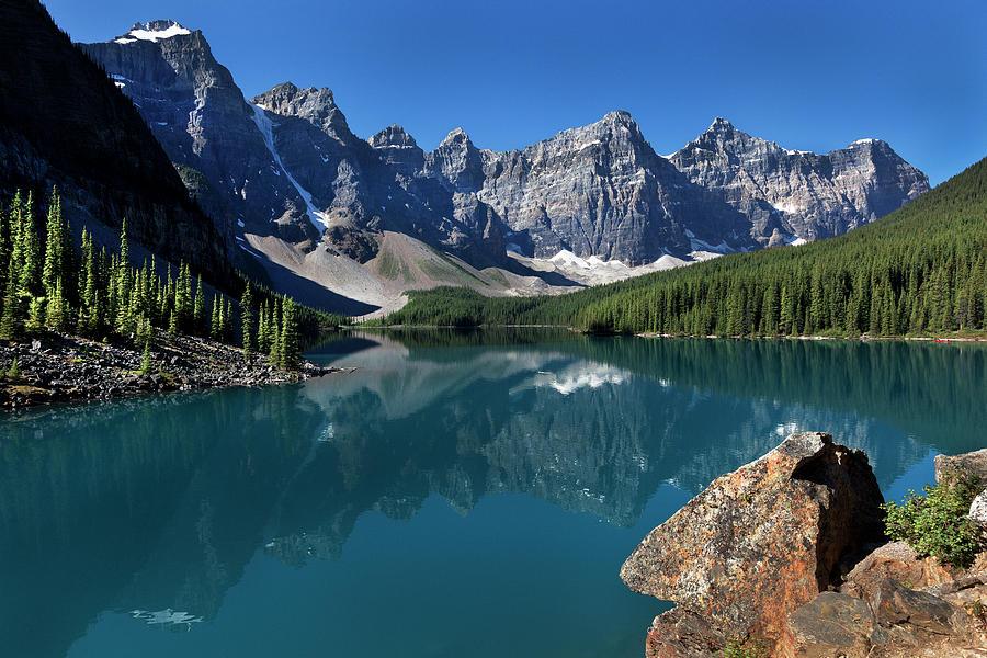 Moraine Lake Valley Of Ten Peaks Banff National Park Alberta Canada