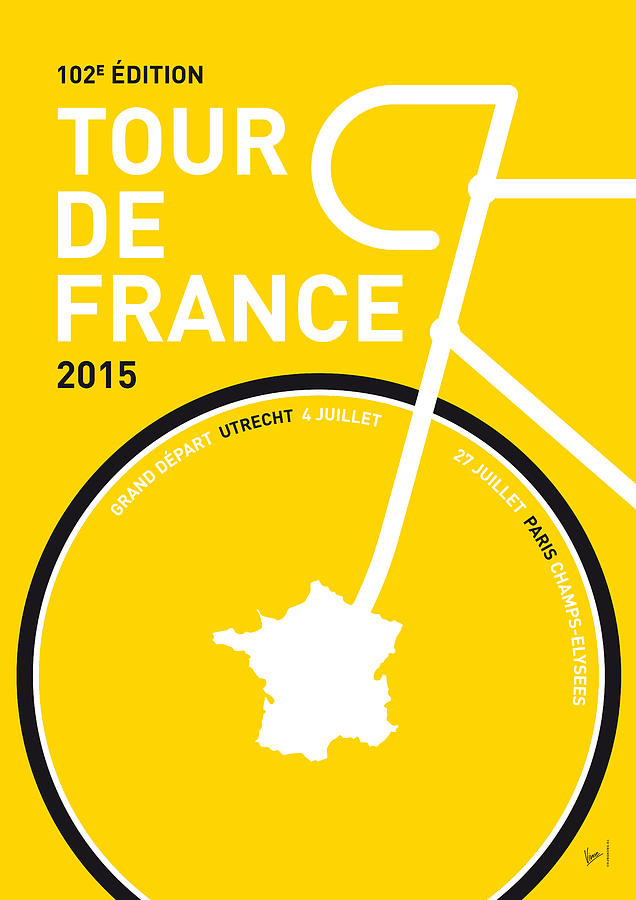 2015 Digital Art - My Tour De France Minimal Poster by Chungkong Art