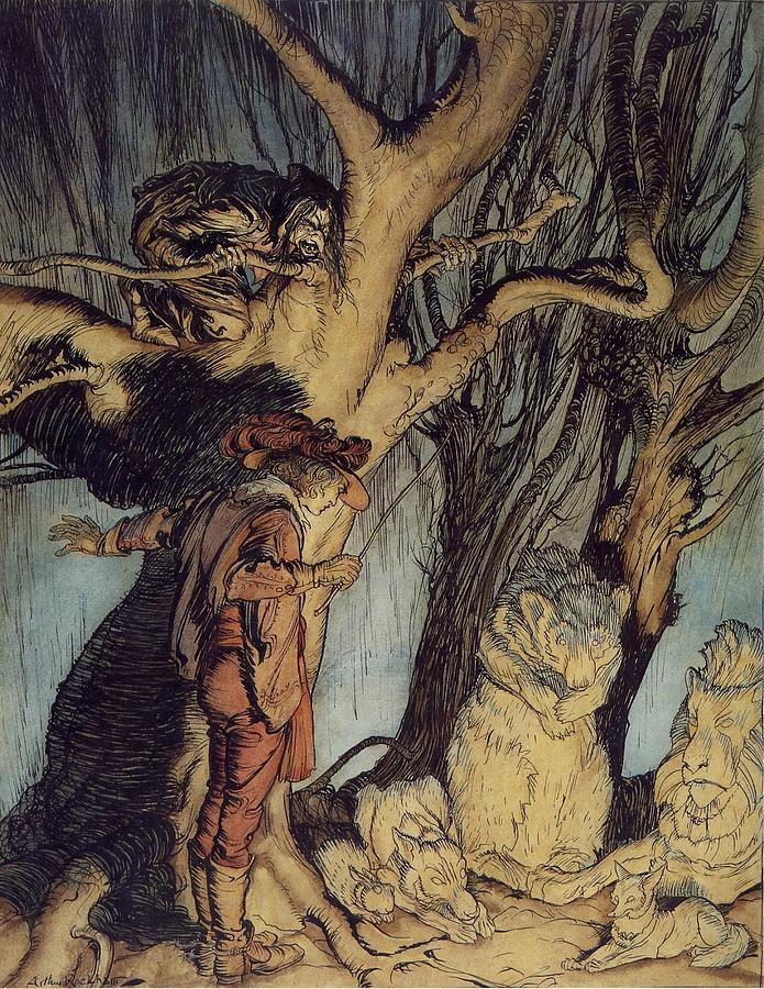Arthur Rackham Painting - Mystical Forest by MotionAge Designs