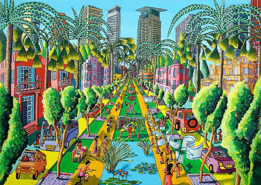 jerusalem naive painting art raphael perez paintings