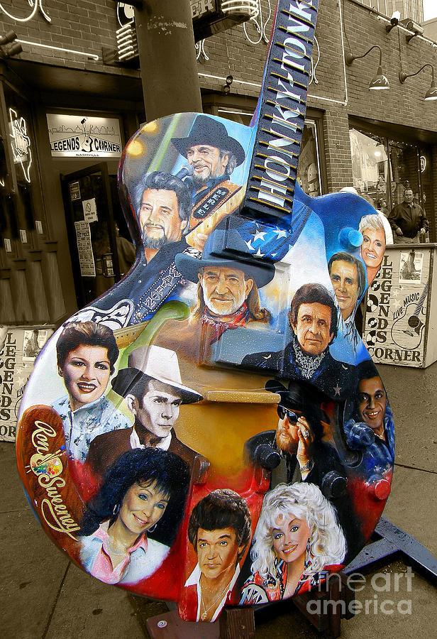 Guitar Photograph - Nashville Honky Tonk by Barbara Teller