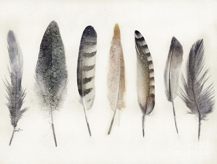 Feathers Painting - Native Earth by Bri Buckley