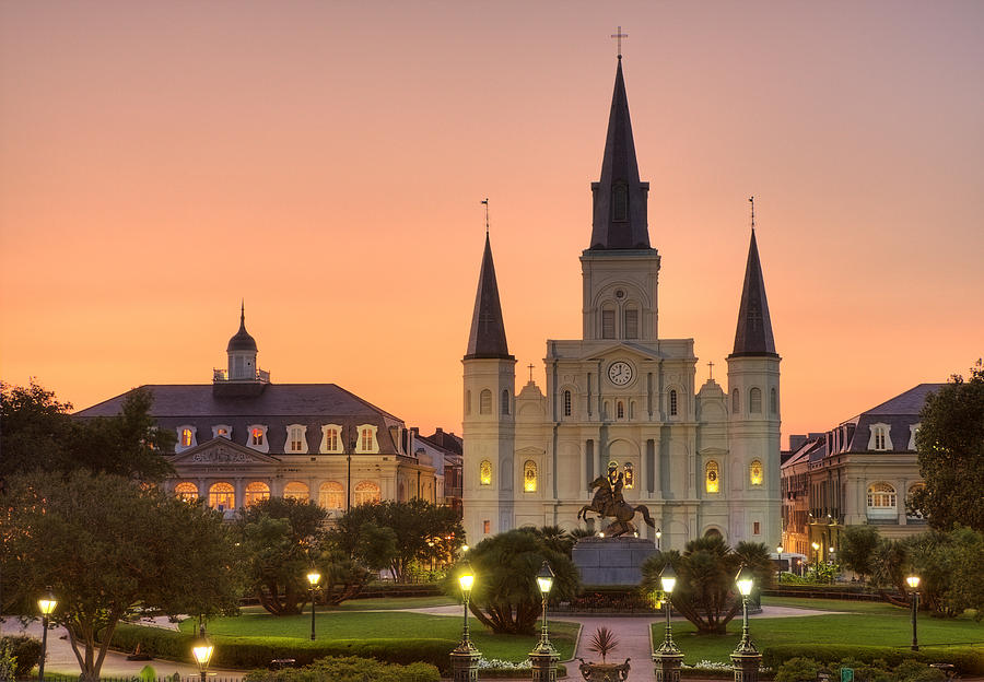 New Orleans Photograph - New Orleans St Louis Cathedral by Marie-Dominique Verdier