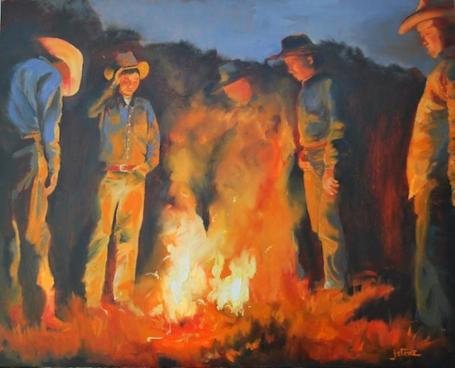 campfire paintings on canvas