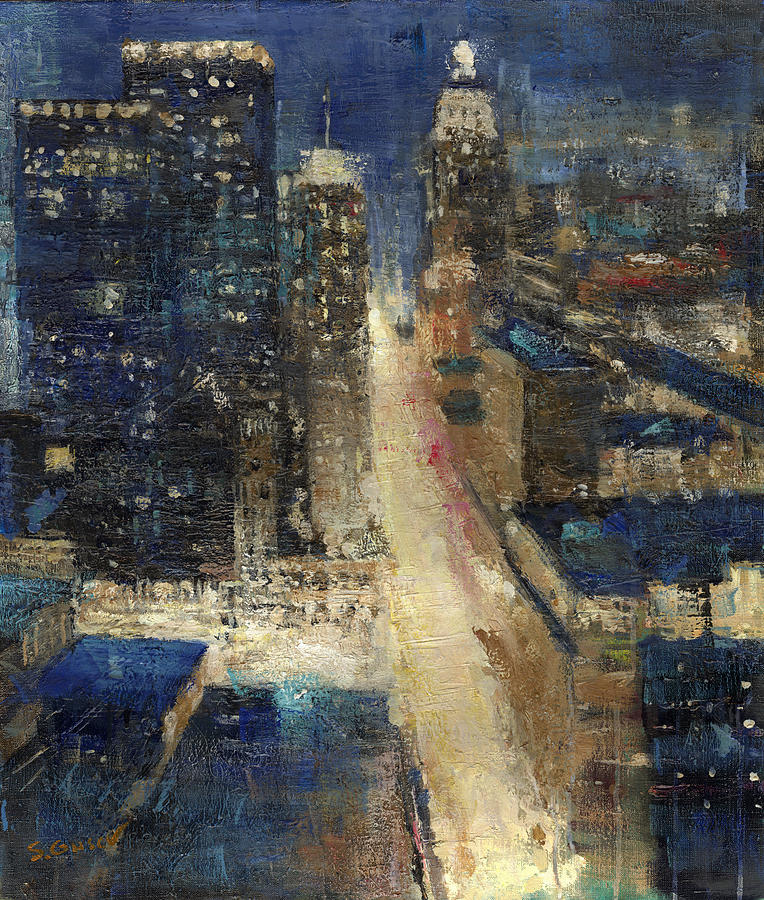New York Painting - New York by Sergey Gusev