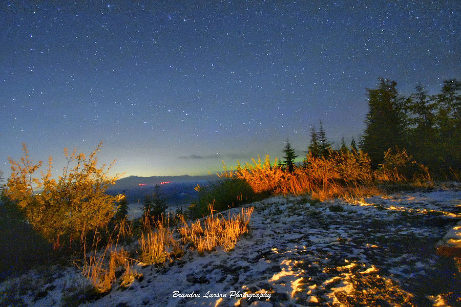 Northern Lights At Mount Pilchuck Photograph by Brandon Larson