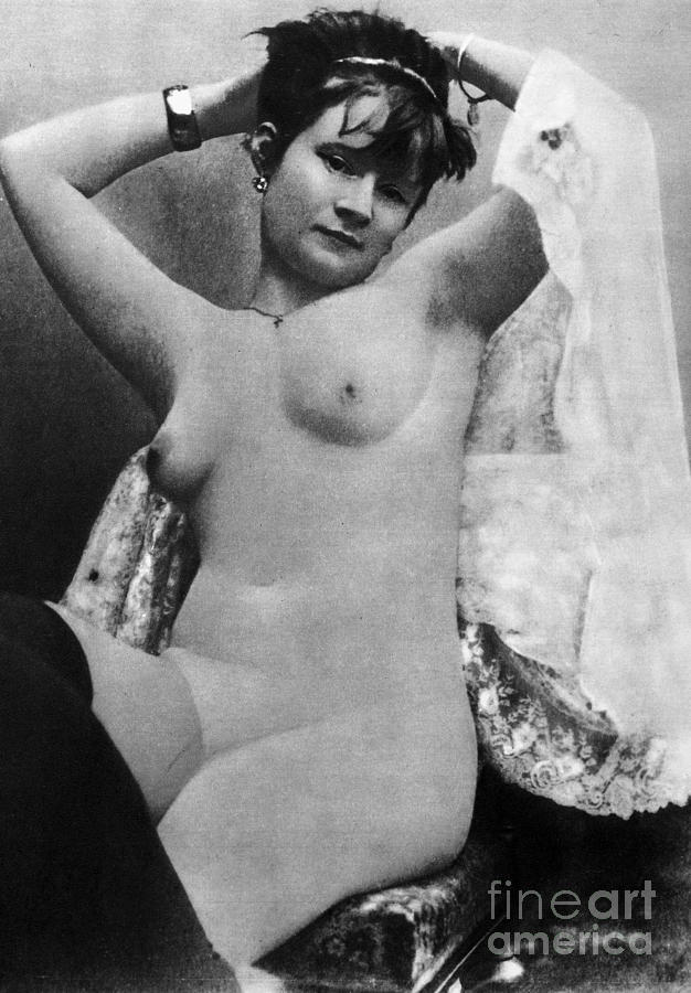 1888 Photograph - Nude Posing, C1888 by Granger
