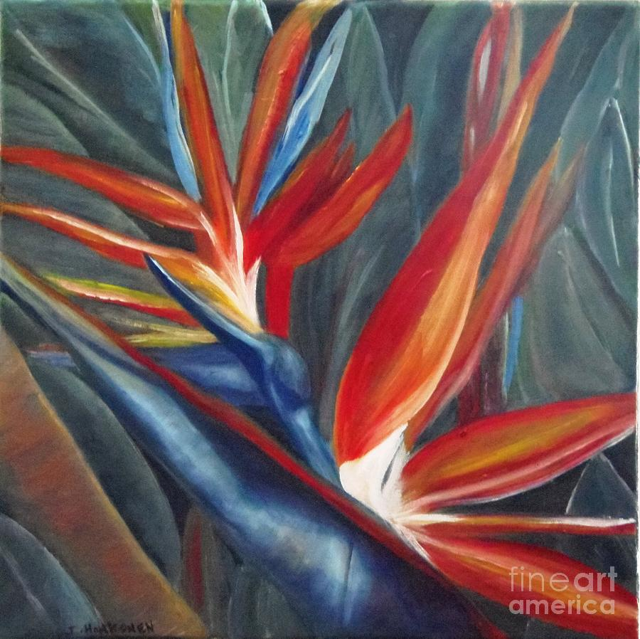 Bird Of Paradise Painting - 2 Of A Kind by Isabel Honkonen