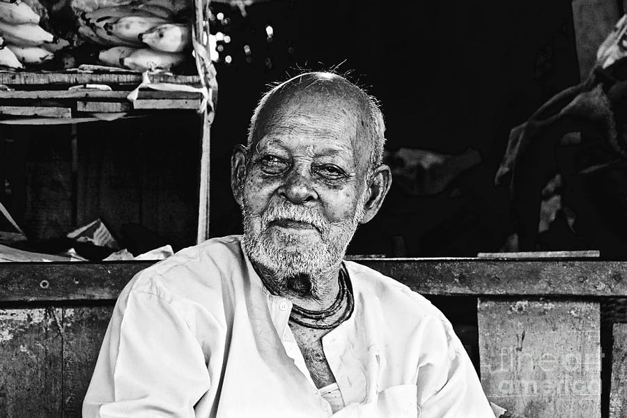 Village Market Digital Art - Old Age by Bobby Mandal