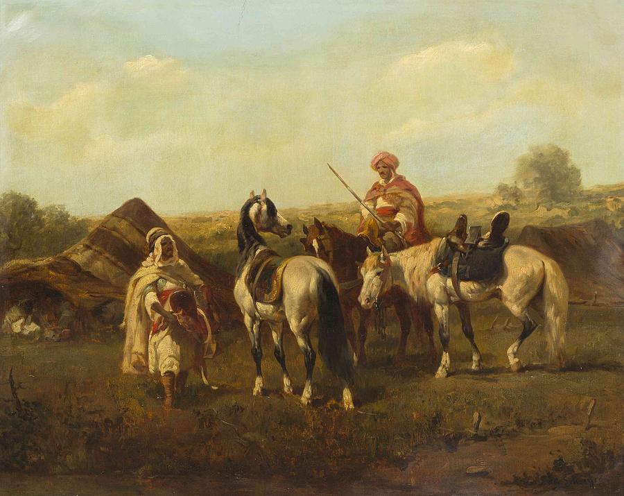 On Horseback Painting