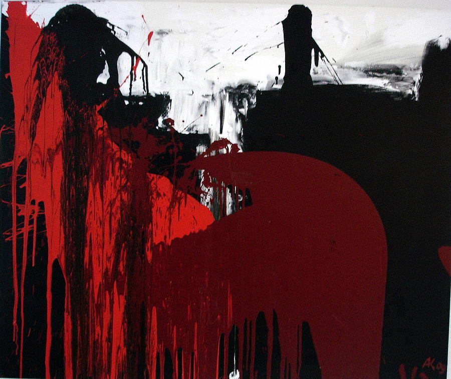 Abstract Paintings Painting - O.T by Albert Kutzelnig