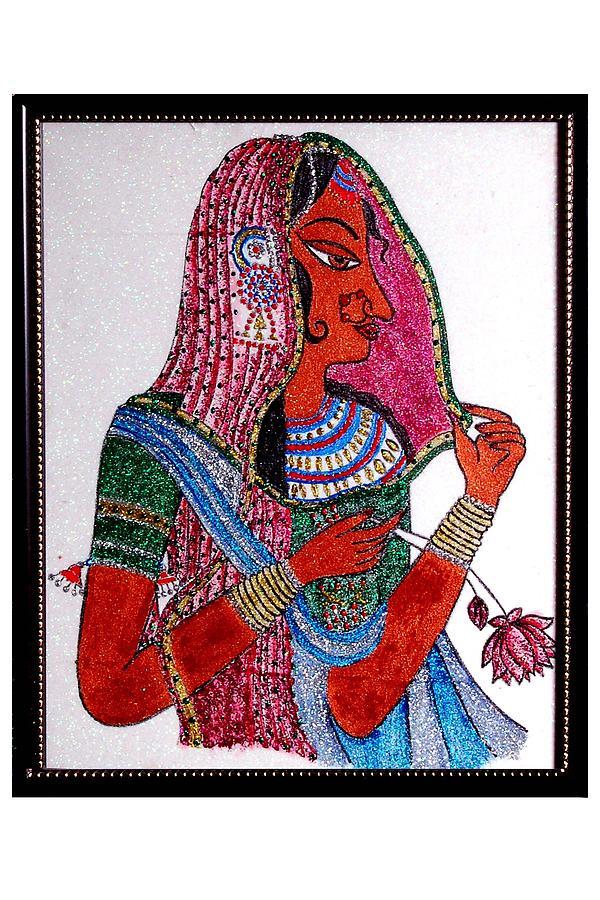 Rajasthani Lady Painting - Paintings by Darshita Mehta